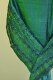 Teal Cotton Saree-2480A