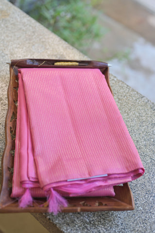 Pink Rising Border Kanchipuram Saree-2649