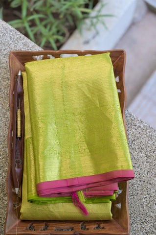 Green Kanchipuram Saree-1708