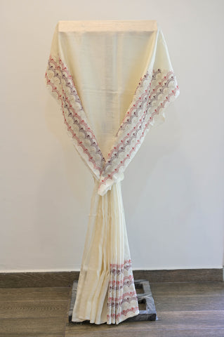 White Cotton Saree-2482