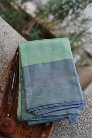 Pista Green Kanchipuram Saree-1869