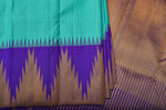 Teal and Blue Kanchipuram Saree-2222