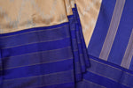 Beige and Blue Tussar Silk Saree-1078