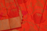 Orange Tussar Silk Saree-1177