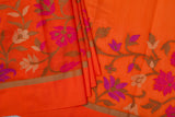 Orange Soft Silk Saree-1098