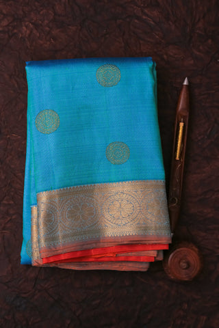 Blue and Red Kanchipuram Saree-101A