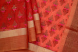 Orange Organza Saree-1181
