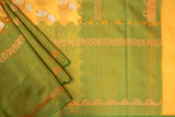 Yellow and Green Organza Saree-1395
