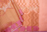 Peach Organza Saree-1396