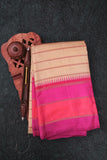 Beige and Pink Kanchipuram Saree-110A