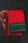 Red and Green Kanchipuram Saree-111A