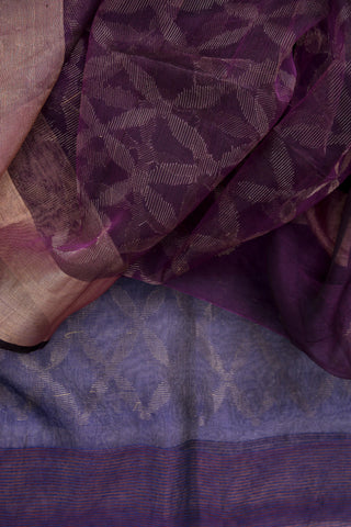 Purple Organza Saree-1212