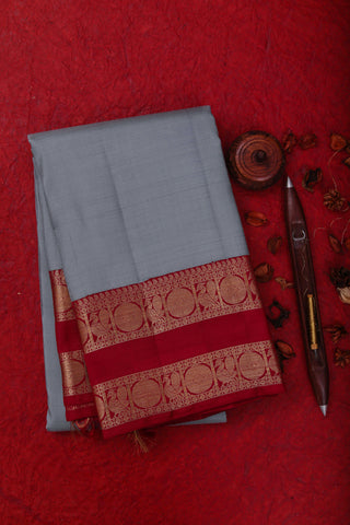 Grey Kanchipuram Saree-1645