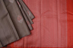 Grey and Peach Kanchipuram Saree-2032