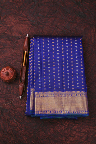 Blue Kanchipuram Saree-123A
