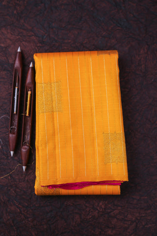 Yellow and Pink Kanchipuram Saree-124A