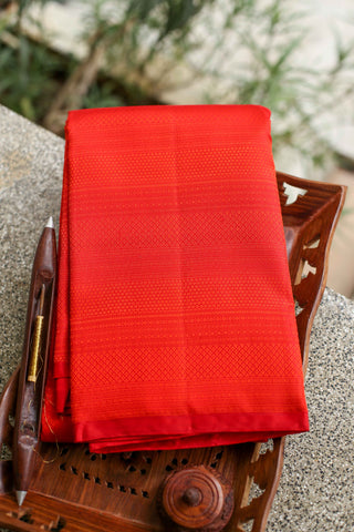 Orange Kanchipuram Saree-2215