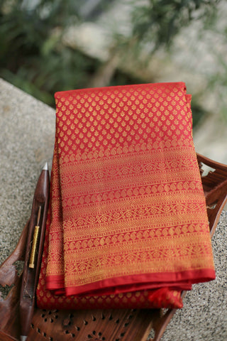 Red Kanchipuram Saree-2227
