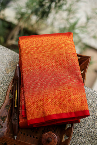 Red Full Zari Kanchipuram Saree-2230