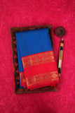 Blue and Red Kanchipuram Saree-1483