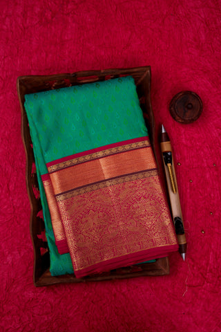 Green and Pink Kanchipuram Saree-1836