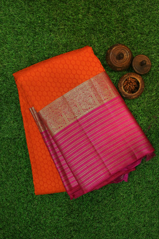 Orange and Pink Saree -1272