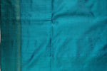 Blue and Turquoise Raw Silk Saree-1373