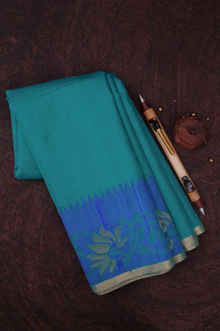 Teal Cotton Kota Saree-1121
