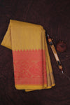Yellow Cotton Kota Saree-1342