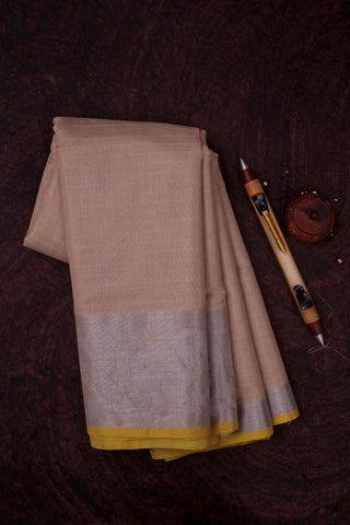 Beige Cotton Kota Saree-1434