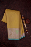 Tuscany Yellow Cotton Kota Saree-1339