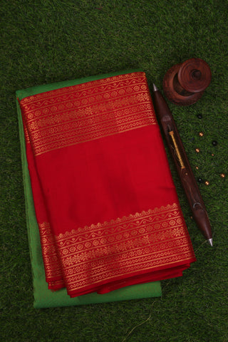 Green and Red Kanchipuram Saree-1503