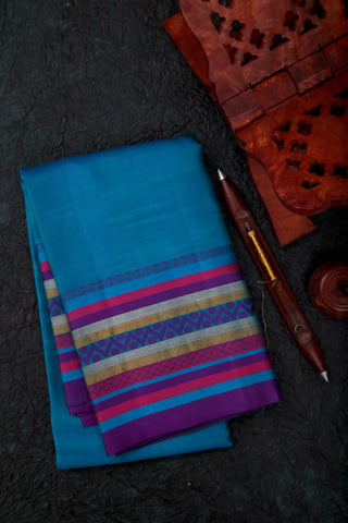 Peacock Blue Kanchipuram Saree-1287