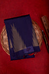 Blue Organza Silk Saree-1631