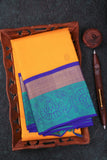 Yellow and Blue Kanchipuram Saree-1262