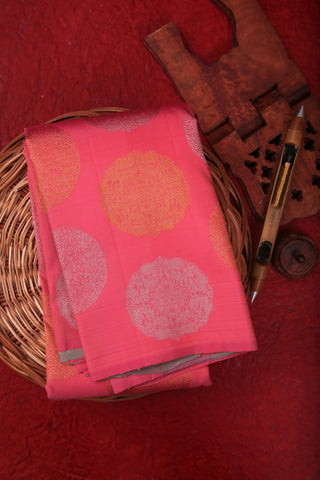 Pink and Grey Kanchipuram Saree-2023
