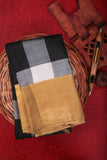 Black Checkered Kanchipuram Saree-1268