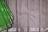 Light Green and Grey Kanchipuram Saree-2047