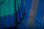 Turquoise Green and Blue Kanchipuram Saree-1257