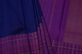 Navy Blue and Purple Kanchipuram Saree-1229