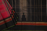 Pink and Black Checkered Kanchipuram Saree-1317