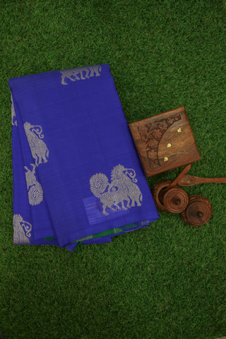 Blue and Green Silk Saree -1320