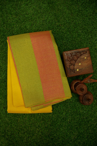 Yellow and Lime Green Saree -1312