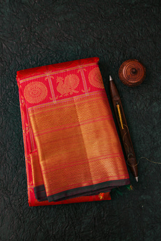 Pink and Gold Kanchivaram Saree-2115