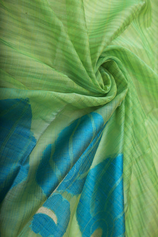 Pista Green Organza Saree-1198
