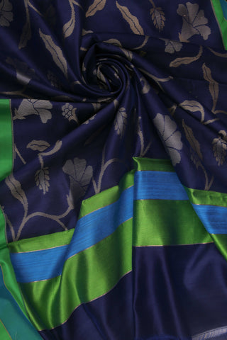 Blue and Green Organza Saree-1386