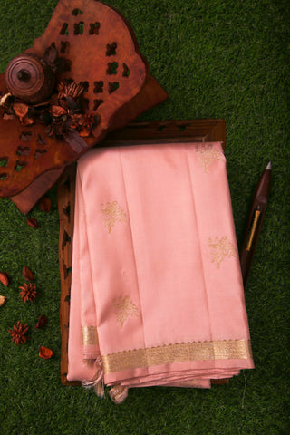 Soft Peach Kanchivaram Saree-2179
