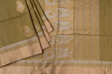 Olive Green Soft Silk Saree-1359