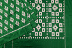Green Ikat Silk Saree-1840