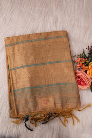Beige Raw Silk Saree-1383